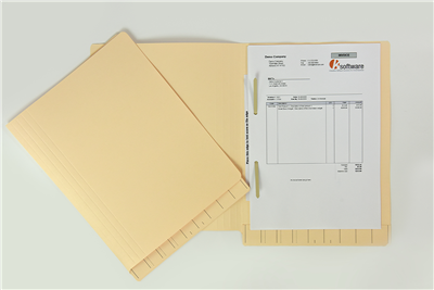326STDCA Standard folder in foolscap with Permclip